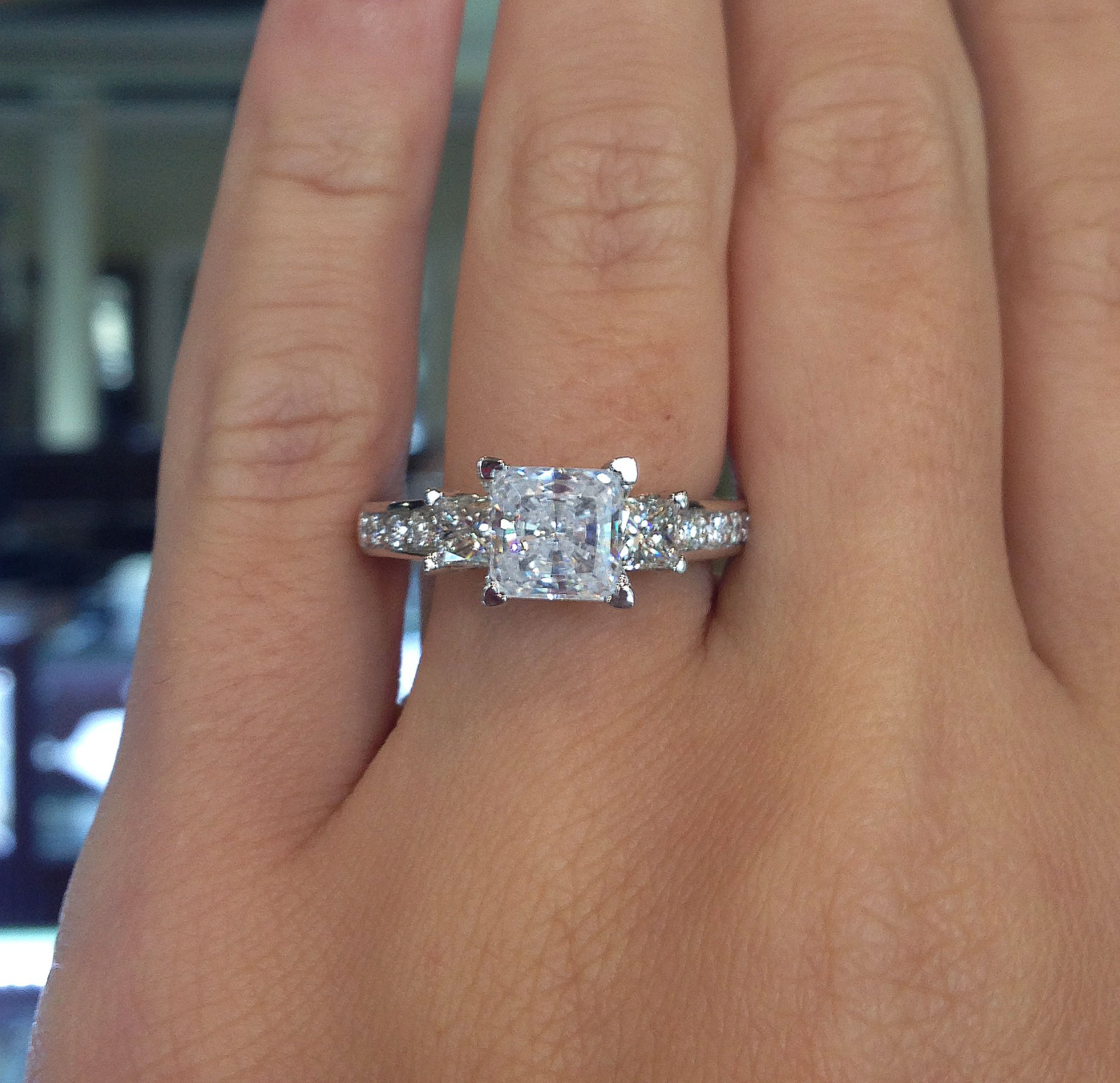 Princess Cut Engagement Rings Under