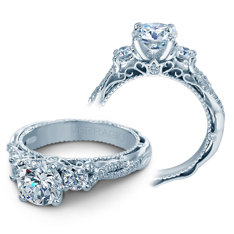 verragio engagement rings 5013r 4 gld 0 45ctw setting