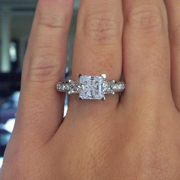 verragio engagement rings gold princess cut setting