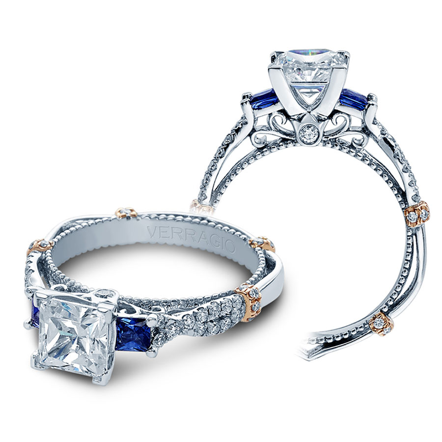 Verragio Engagement Rings Sapphire And Diamond Mounting