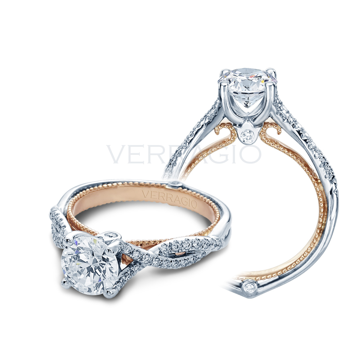 Verragio engagement rings 025ctw diamond setting for Wedding rings by verragio
