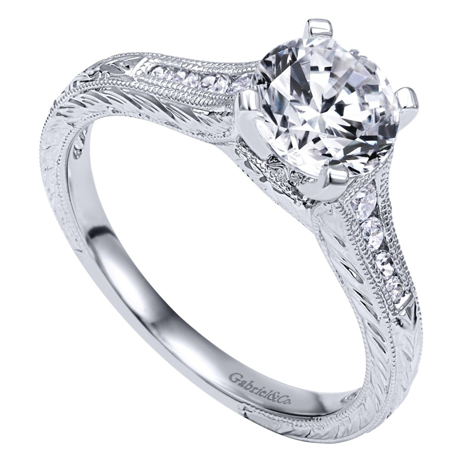 Gabriel & Co Engagement Rings Solitaire 15ctw Diamonds