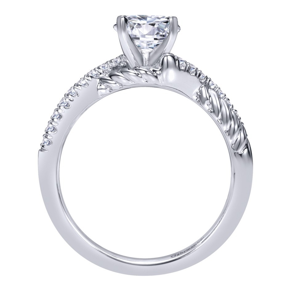 Gabriel & Co Engagement Rings Twisted Shank 17ctw Diamonds