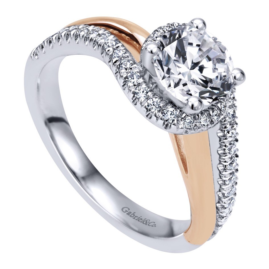 Gabriel & Co Engagement Rings ByPass 30ctw Diamonds