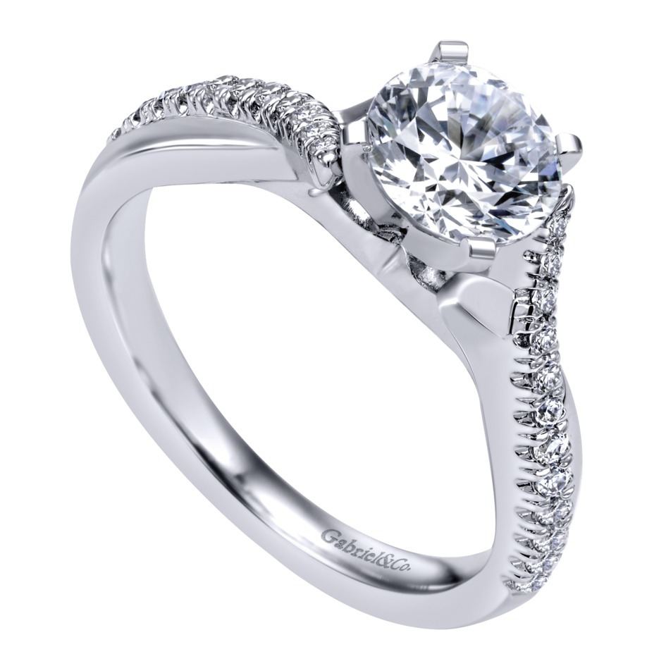 Gabriel & Co Engagement Rings Crossover 19ctw Diamonds