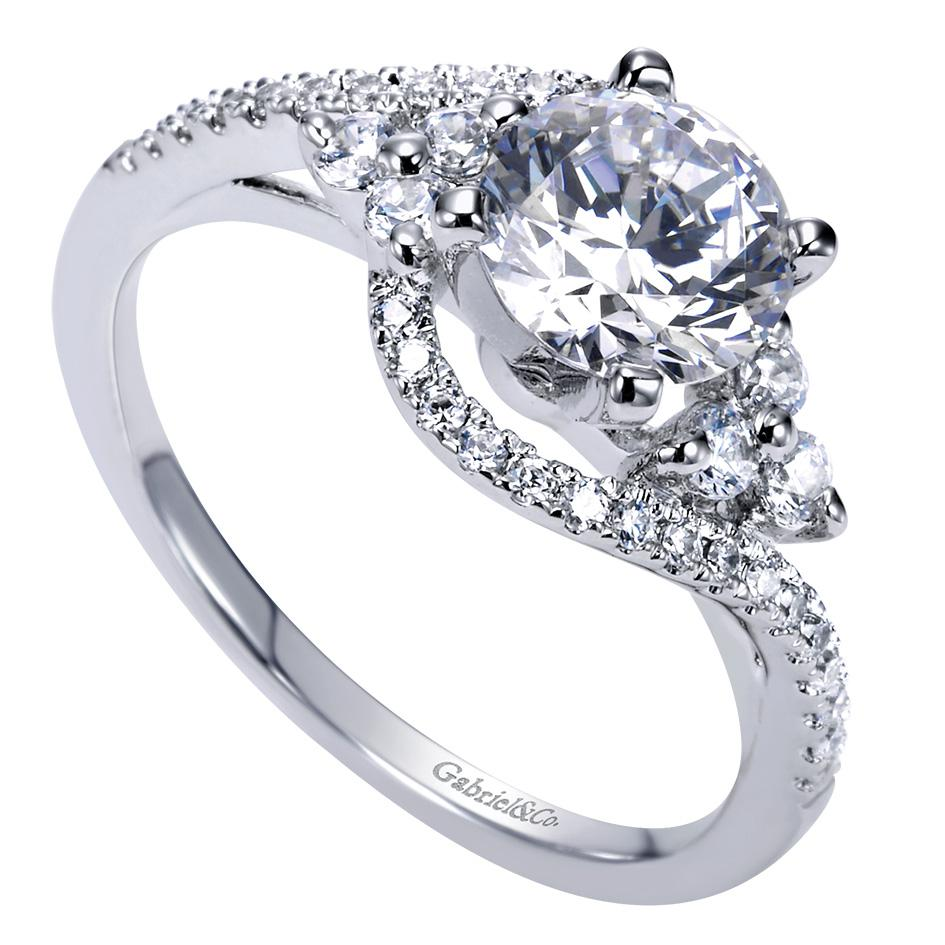 Gabriel & Co Engagement Rings ByPass 35ctw Diamonds