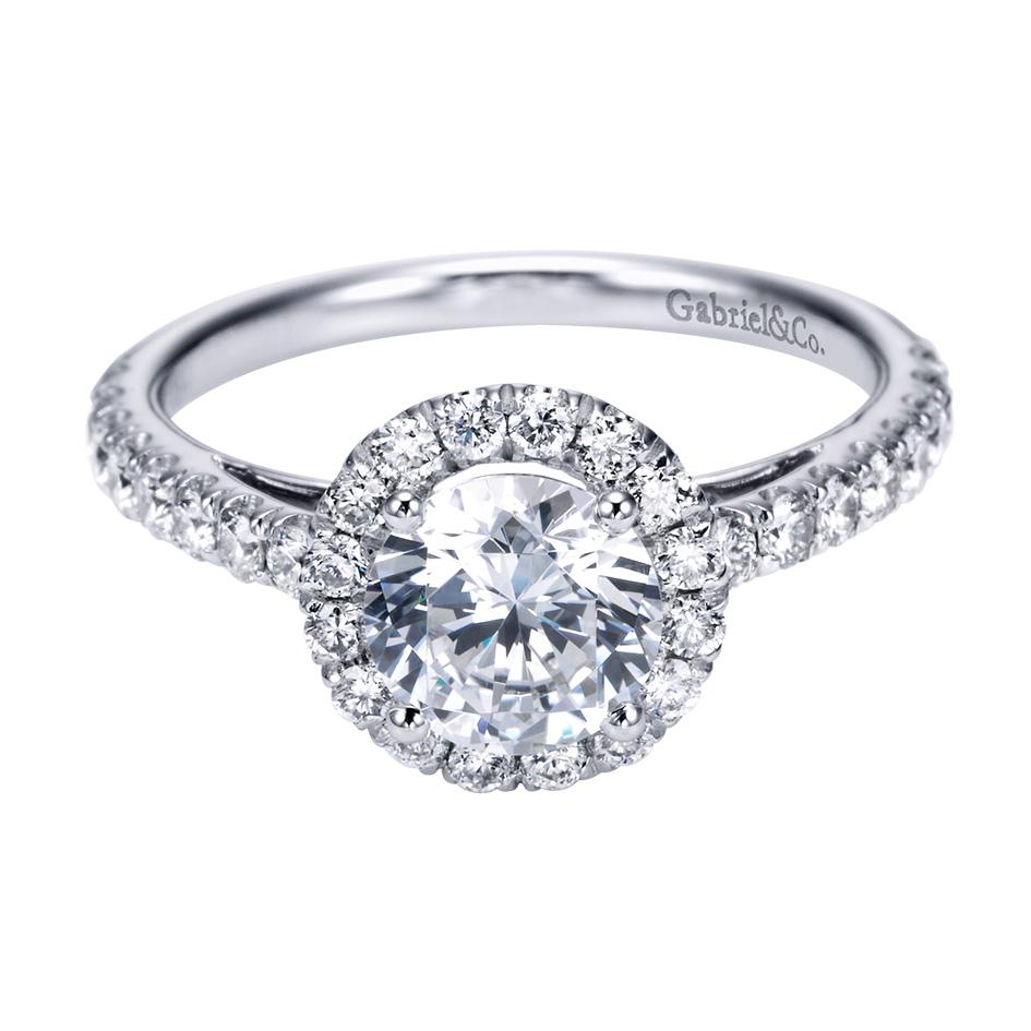 Gabriel & Co Engagement Rings Round Halo 56ctw Diamonds
