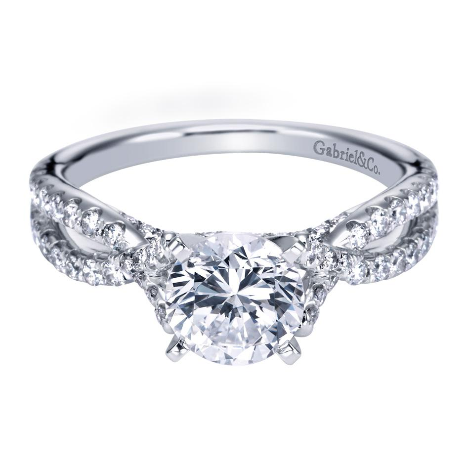Gabriel & Co Engagement Rings Split Shank 54ctw Diamonds