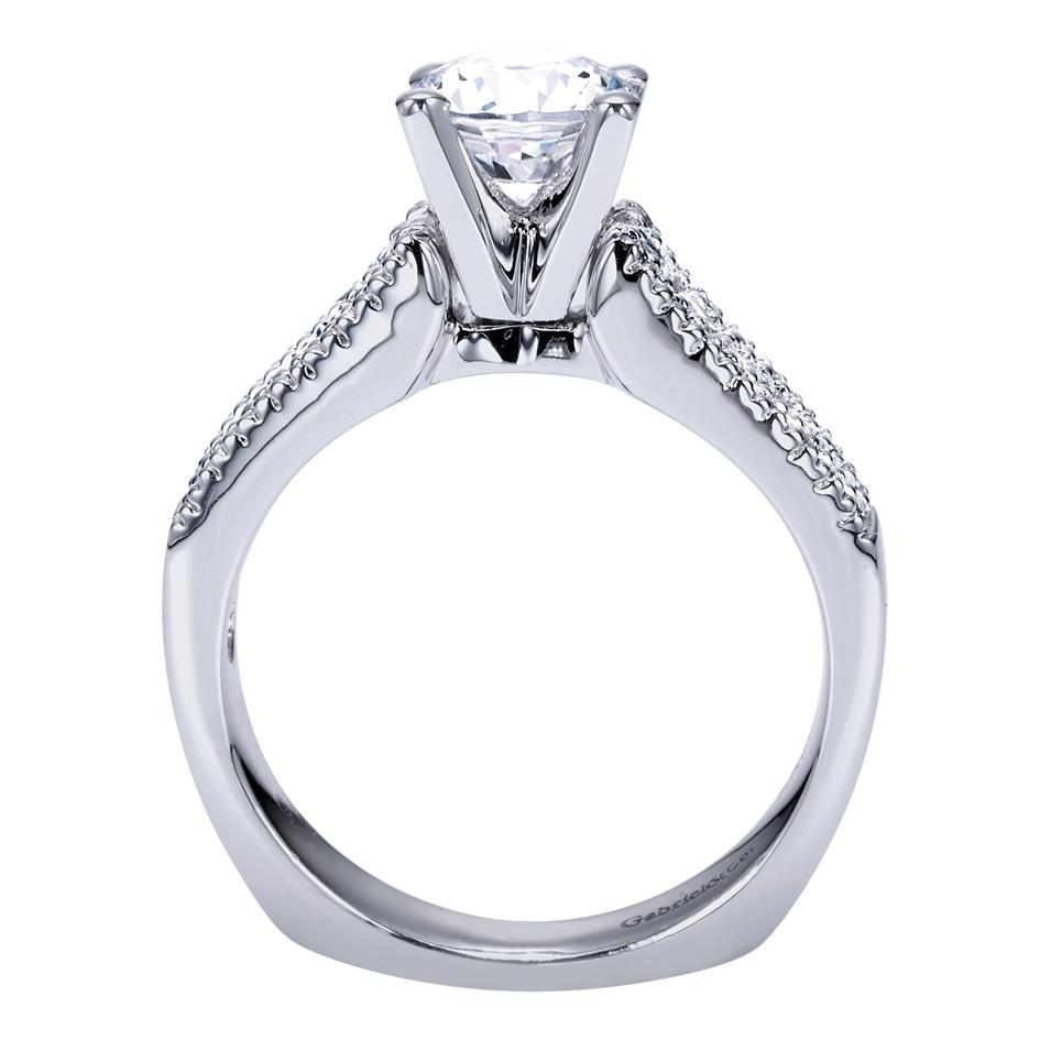 Gabriel & Co Engagement Rings Three Row 51ctw Diamonds