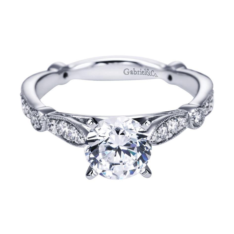 Gabriel & Co Engagement Rings Victorian 30ctw Diamonds