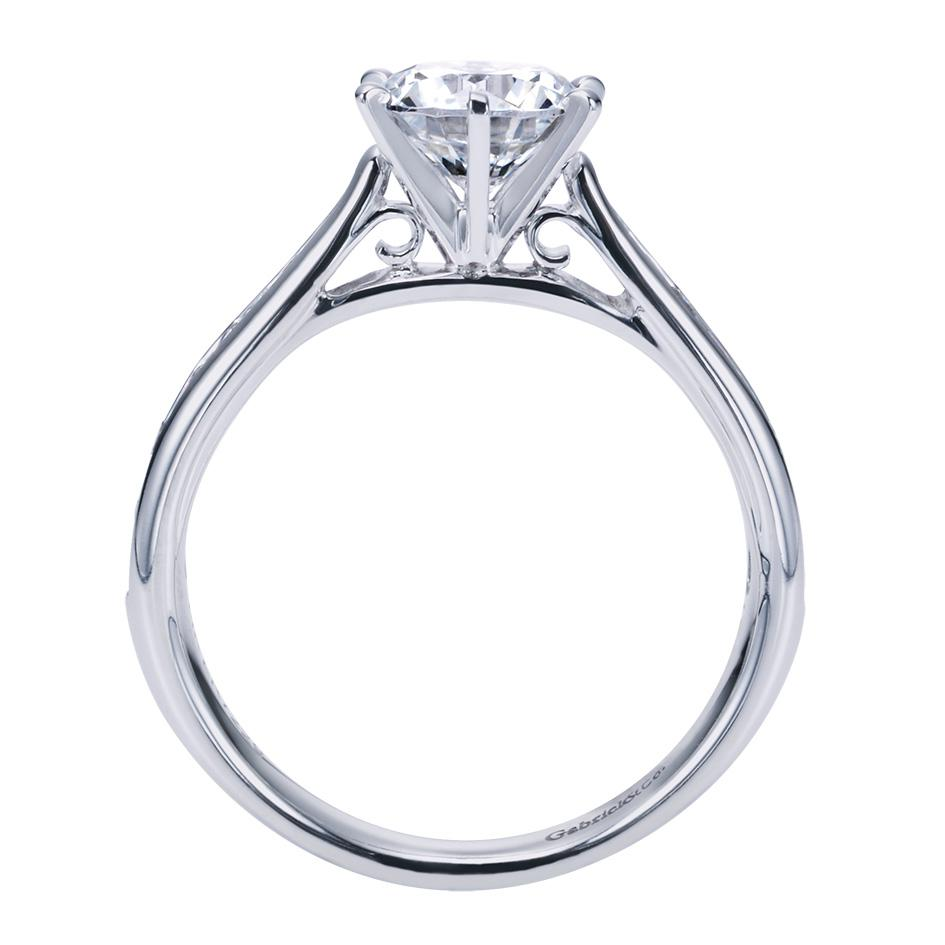 Gabriel & Co Engagement Rings Solitaire 33ctw Accent Diamonds
