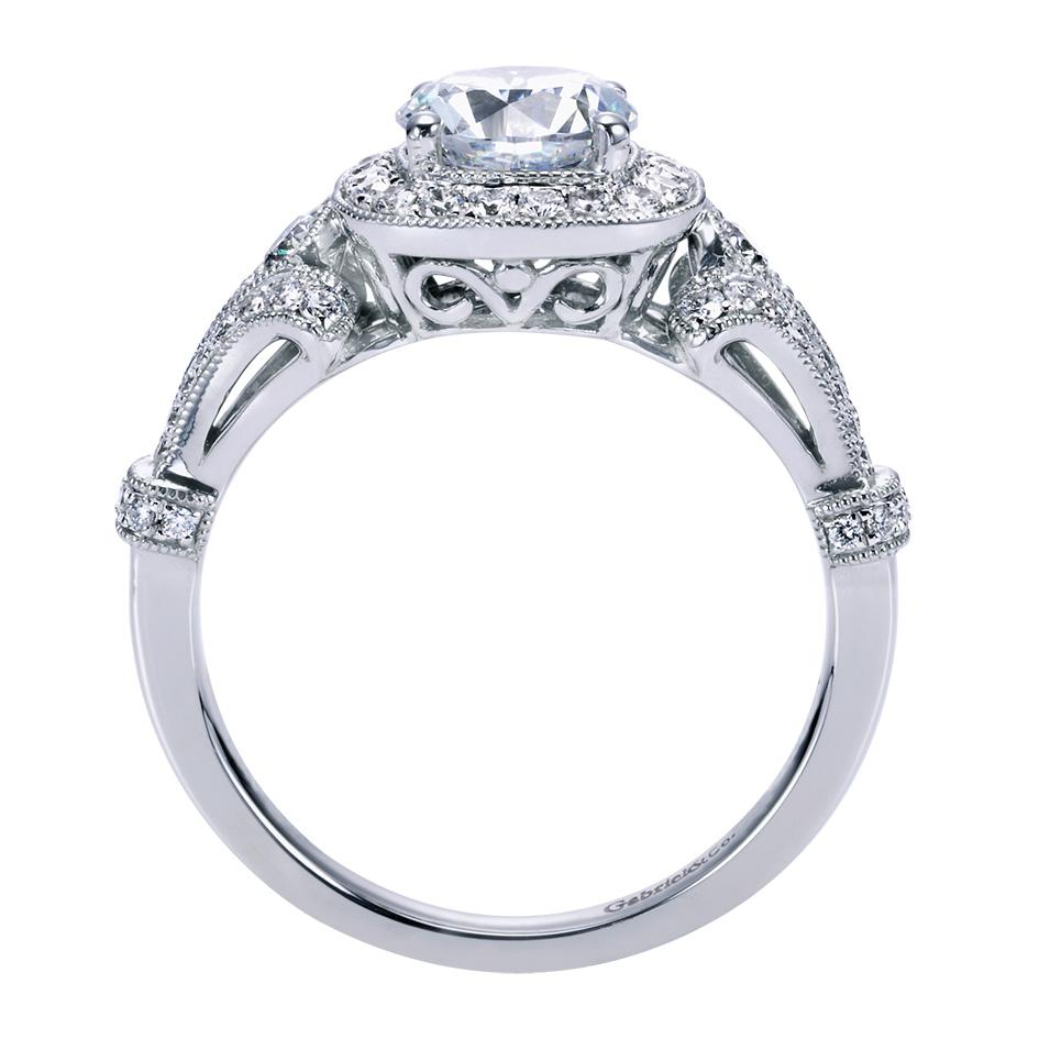 Gabriel Amp Co Engagement Rings Victorian Halo Setting 42ctw
