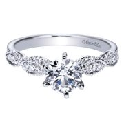 Gabriel & Co. ER3848W44JJ 14k White Gold Diamond Solitaire Victorian Engagement Ring Setting