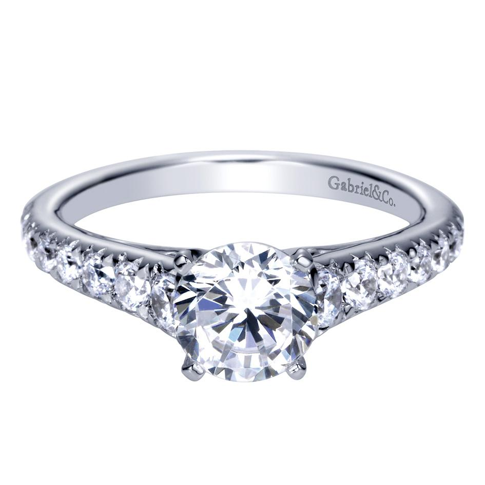 Gabriel & Co Engagement Rings Solitaire 56ctw Diamonds