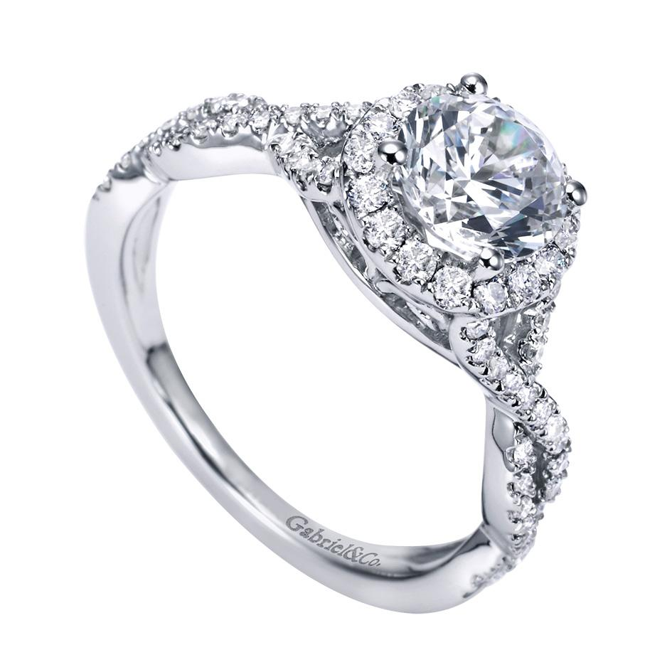 Gabriel & Co Engagement Rings Diamond Halo 42ctw Setting