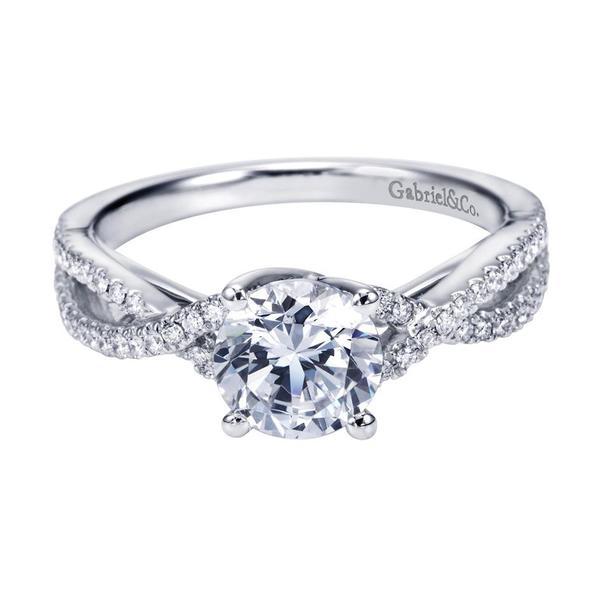 431912fce19f2 Gabriel & Co. Engagement Rings Split Shank .26ctw Diamonds