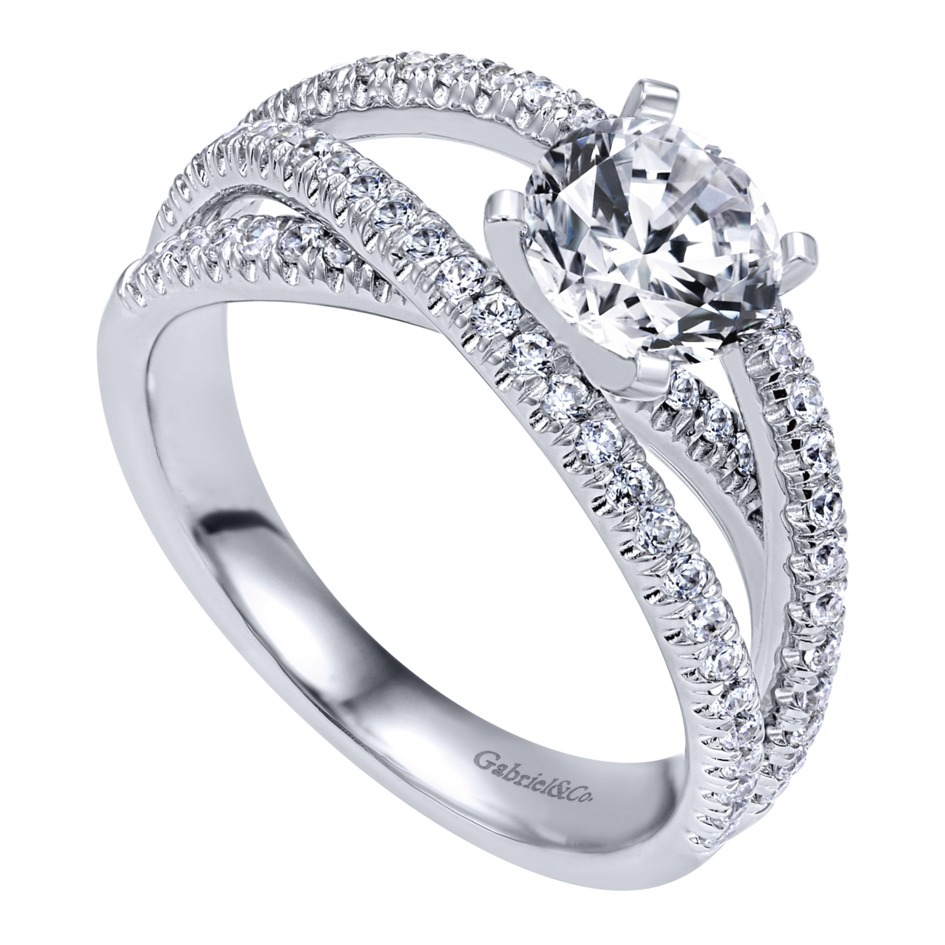 Gabriel & Co Engagement Rings Free Form 57ctw Diamonds