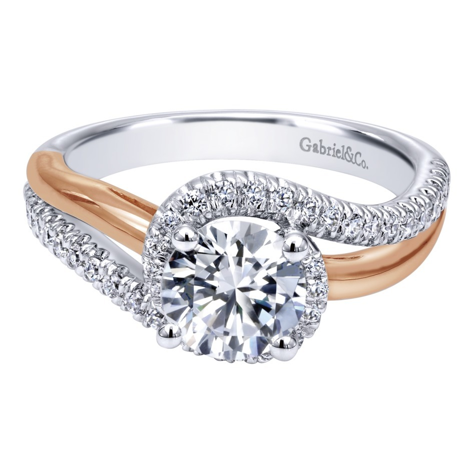 Gabriel   Co. Engagement Rings ByPass .30ctw Diamonds 3d769f4e37