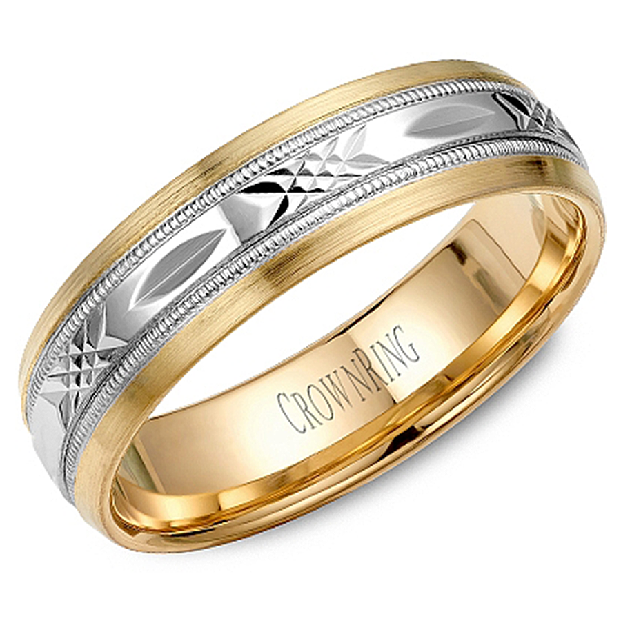 crown ring wb 7000 m10 two tone wedding band