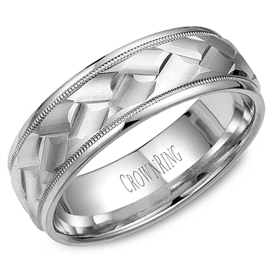 crown ring wb 9098 m10 mens wedding band