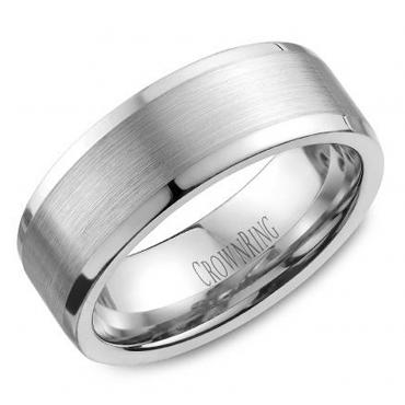 crown ring wb 9845 m10 satin finish wedding band