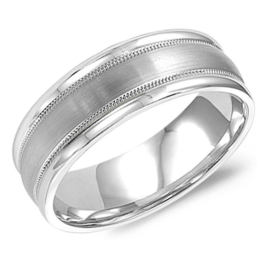 crown ring wb 9906 m10 milgrain design wedding band
