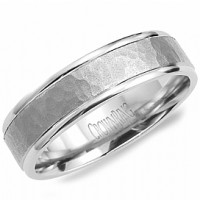 Crown Ring LB 2022 M10 Hammered Round Wedding Band