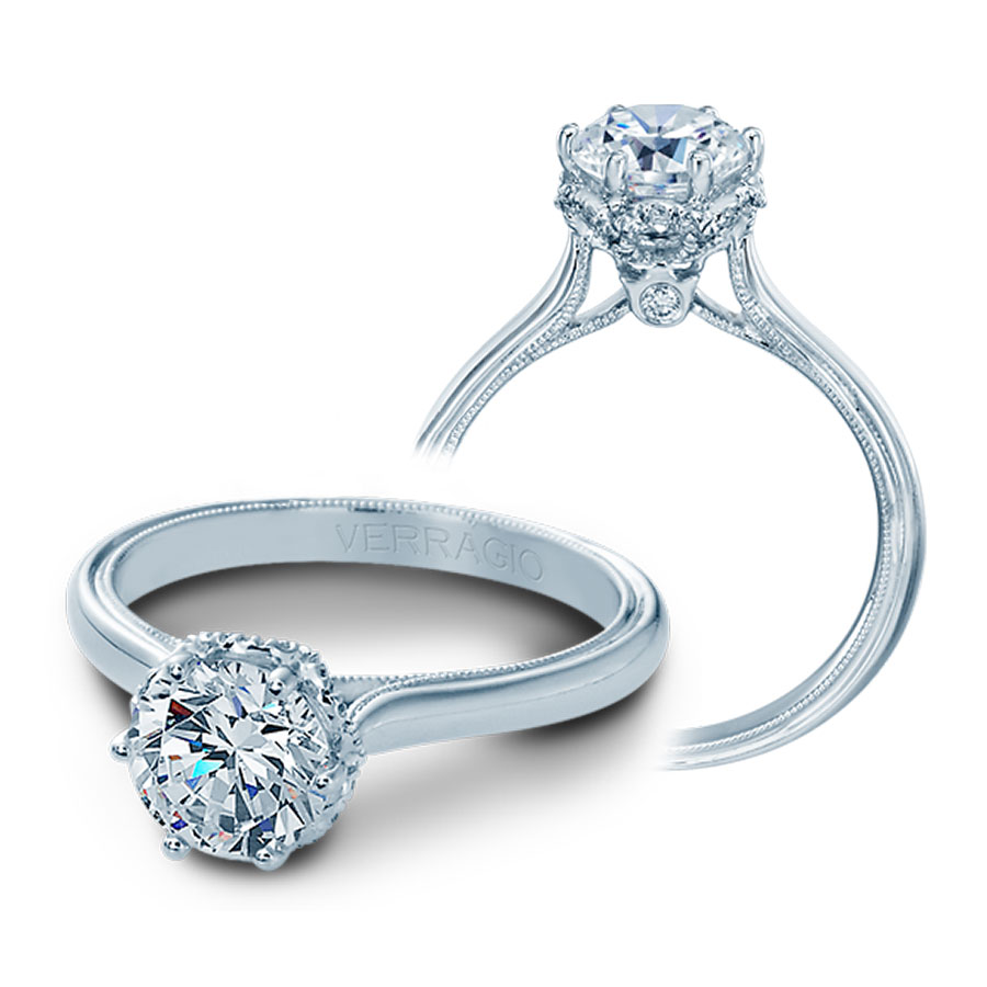 Verragio Engagement Rings 0 10ctw Diamond Setting