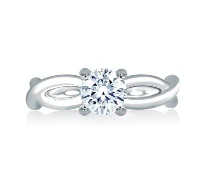 A Jaffe Vine Engagement Ring
