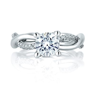 A Jaffe. Diamond Engagement Ring