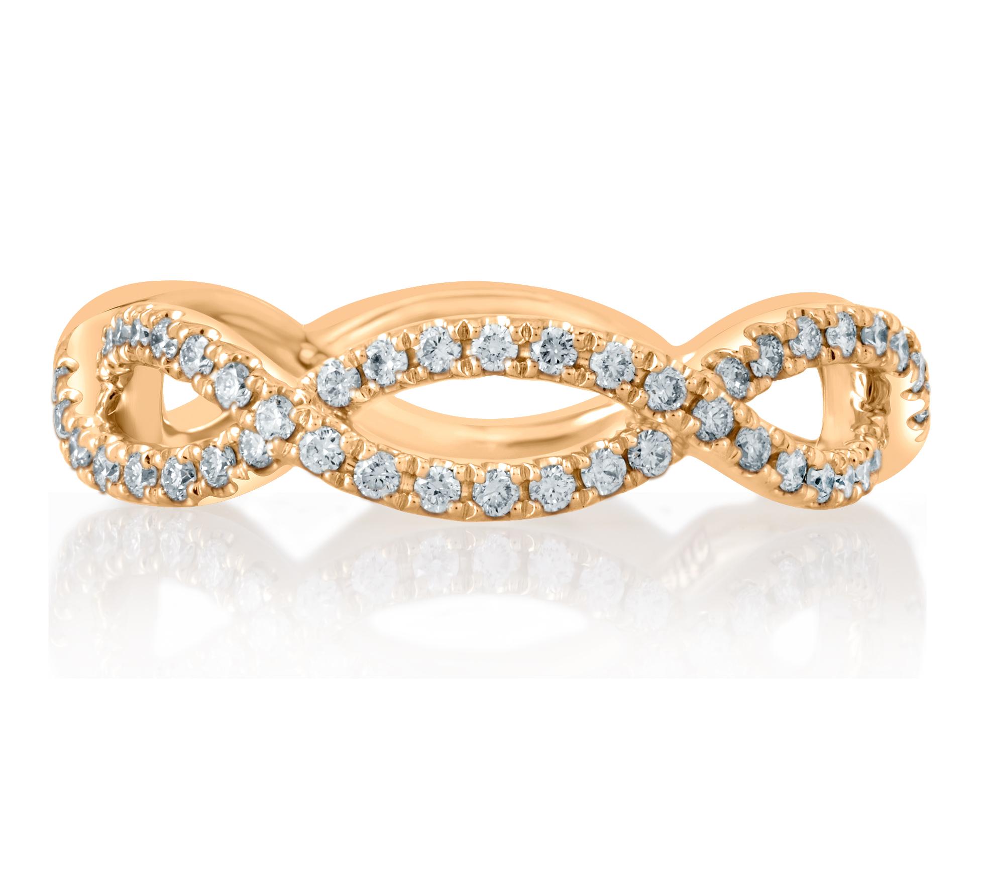 jaffe wr0849 69 modern open twist diamond wedding band