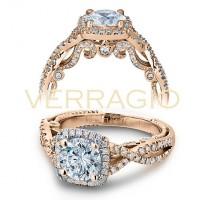 Verragio INSIGNIA-7070CU-GOLDR .45CTW Diamond Engagement Ring Setting