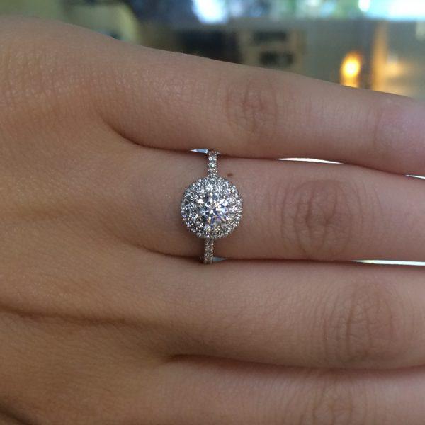 A Jaffe Engagement Rings Diamond Halo Setting 36ctw