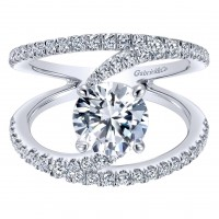 Gabriel & Co.  ER12416R4W44JJ 14k White Gold Diamond Split Shank Engagement Ring Setting