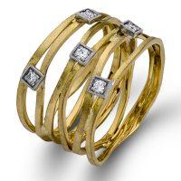 Simon G MR2260 18k Two Tone Diamond Ring