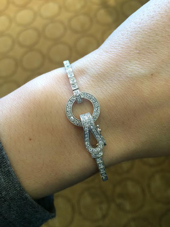Simon G Engagement Rings 18k White Gold Diamond Buckle 1 02ctw