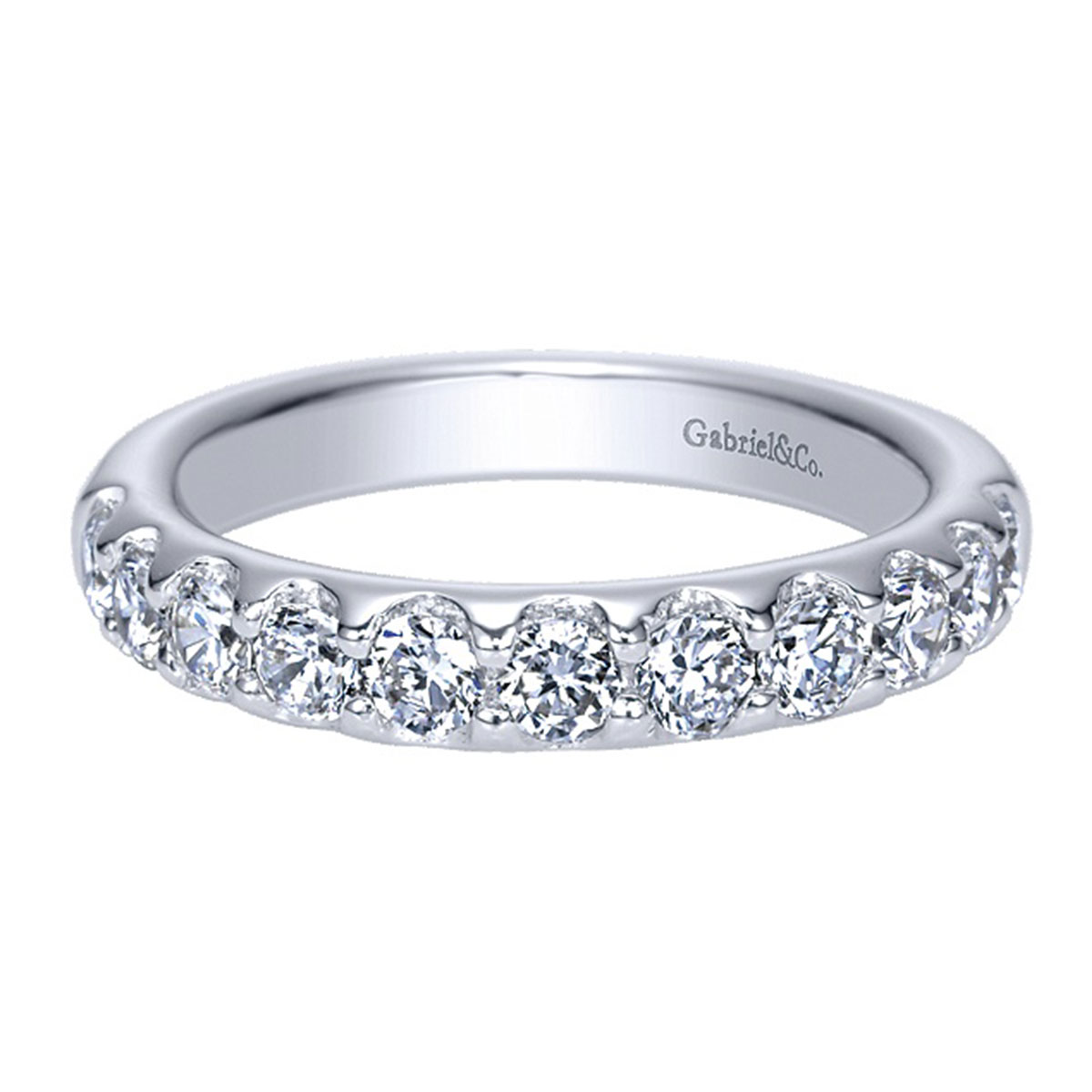 gabriel co 14k white gold 1 66ctw wedding band