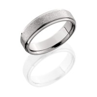 Lashbrook 6mm Wedding Band with Grooved Edges