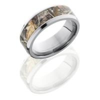 Lashbrook Realtree Max4 Camo 8mm Wedding Band with Beveled Edges