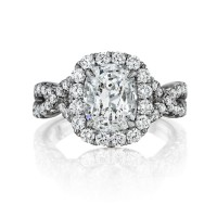 Henri Daussi AW 0.45ctw Diamond Engagement Ring