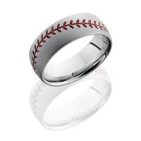 Lashbrook Baseball Pattern Wedding Band