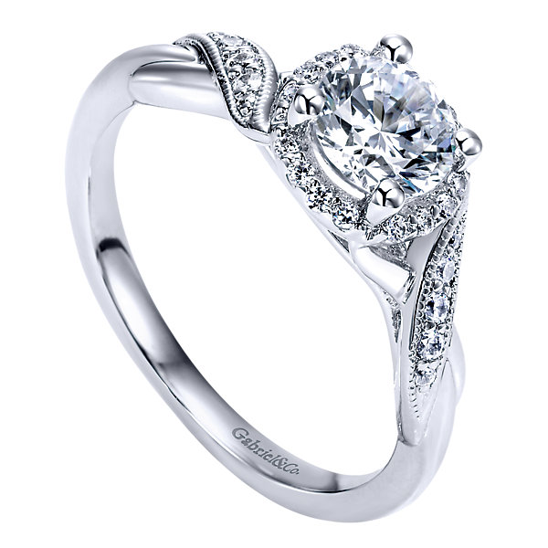 Gabriel & Co Engagement Rings Halo 18ctw Beautiful Diamonds