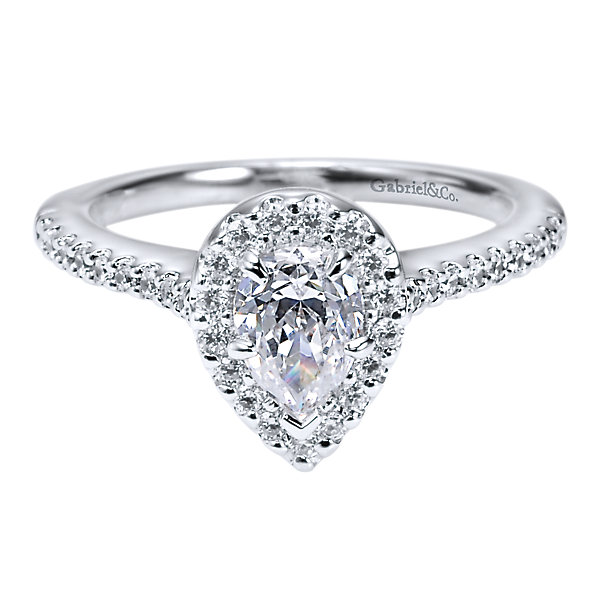 Gabriel & Co Engagement Rings Diamond Halo 33ctw Setting