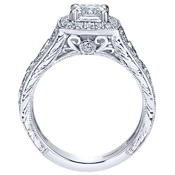 Gabriel & Co Engagement Rings 66ctw Diamonds Halo Setting