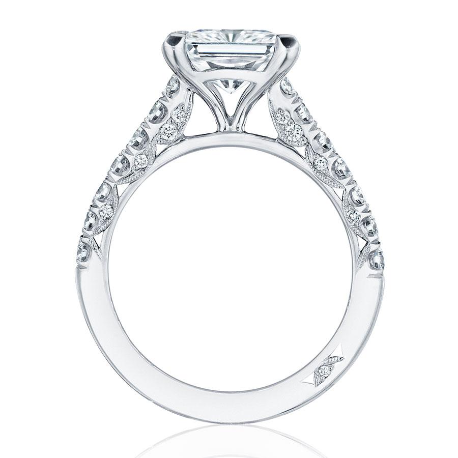 tacori engagement rings crescent solitaire setting
