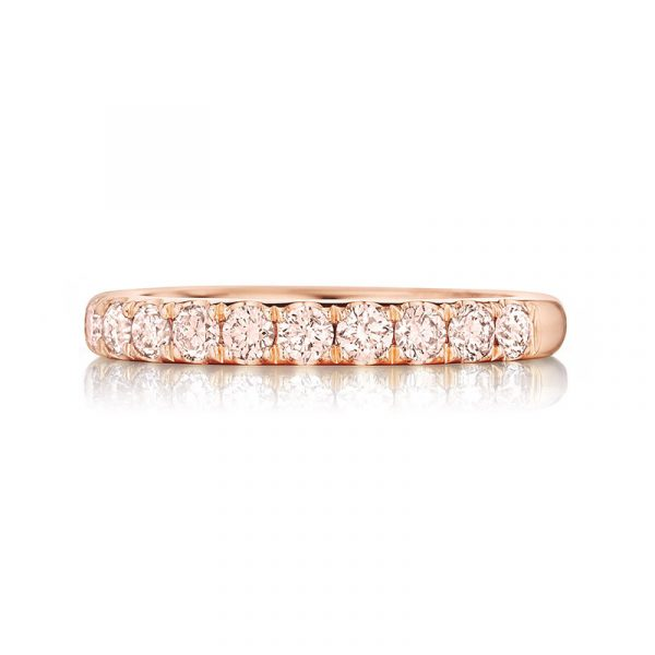 Henri Daussi Diamond Wedding Band