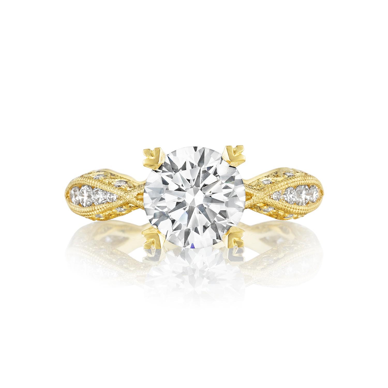Engagement Rings Tacori: Tacori Engagement Rings Gold Diamond Twist Setting