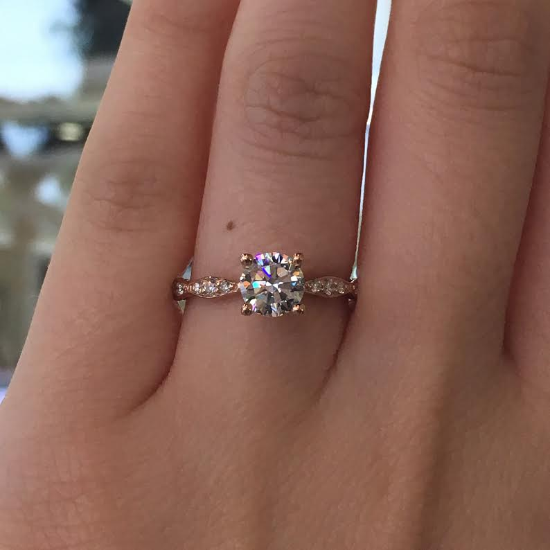 Tacori Engagement Rings Pretty In Pink Solitaire Setting 0