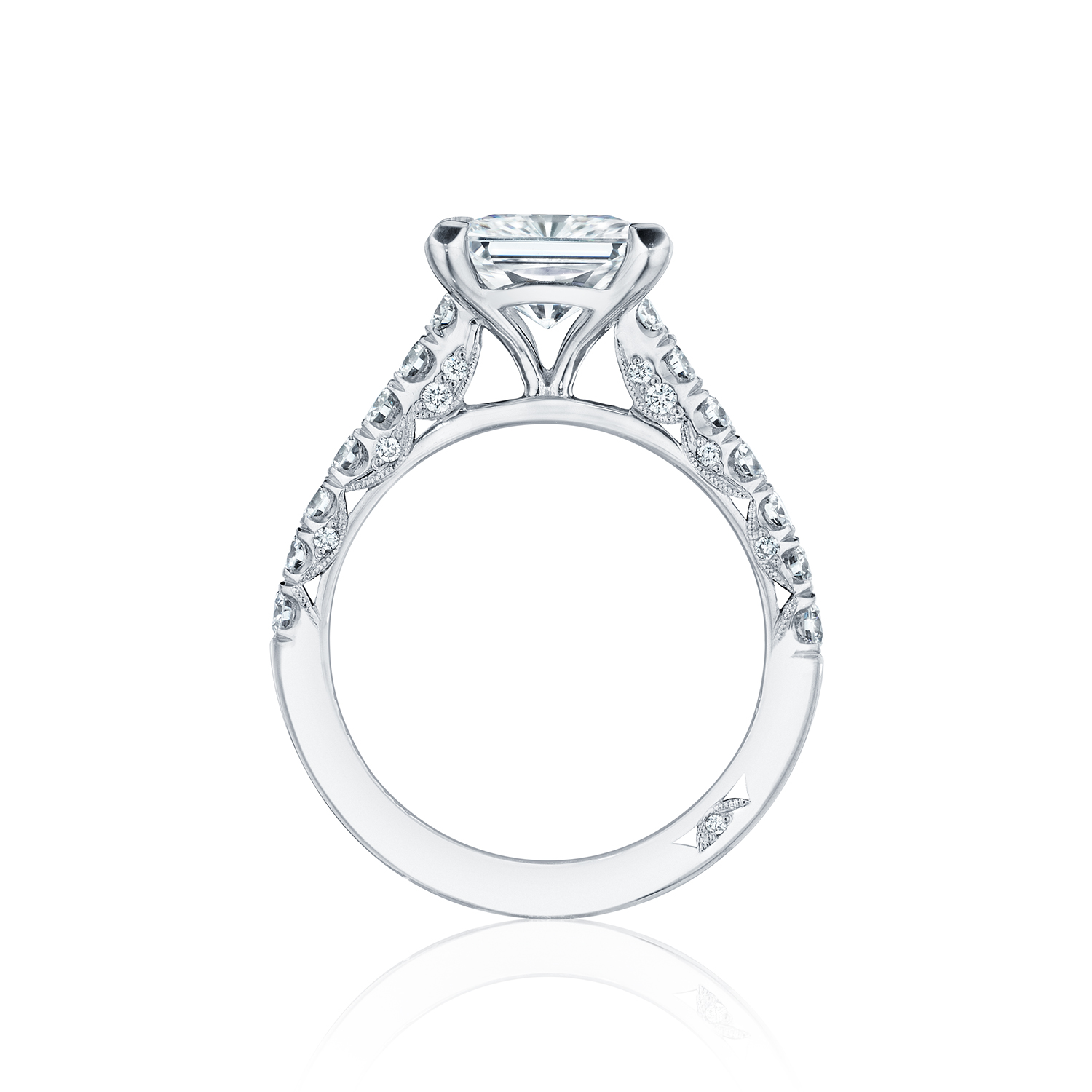 tacori engagement rings crescent solitaire setting