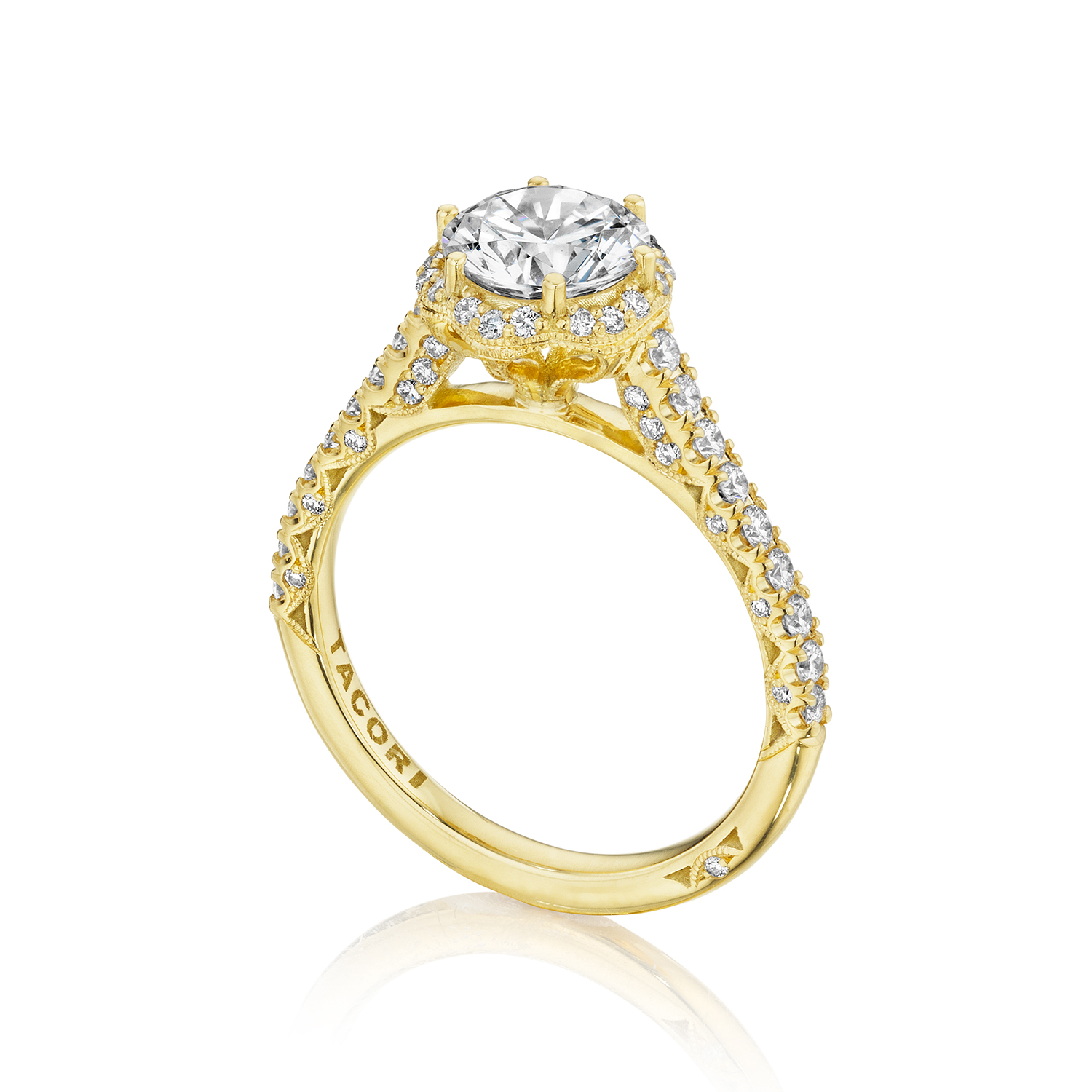 Engagement Rings Tacori: Tacori Engagement Rings Gold Floral Halo Setting